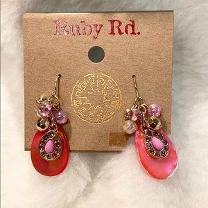 🥰 NWT Ruby Rd Earrings Pink & Coral so pretty